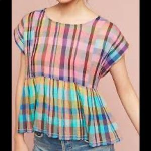 Holding horses colorful babydoll blouse